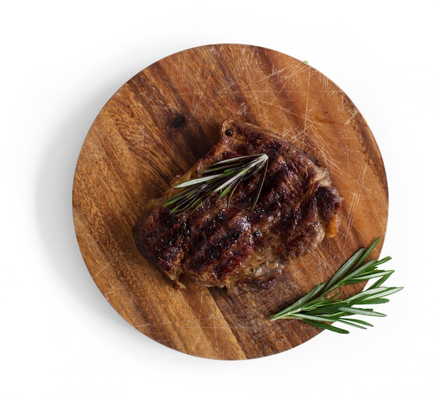 Grilled steak on table Free Photo