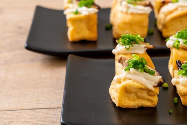 しいたけと金針茸の焼き豆腐 Premium写真