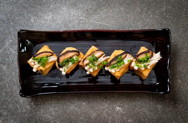 しいたけと金針茸のグリル豆腐 Premium写真