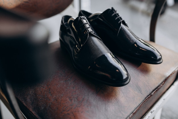 Groom's shoes isolated Free Photo
