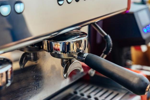 Ground coffee for preparing coffee machine Premium Photo