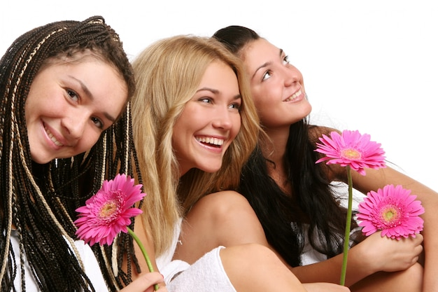 A group of beautiful young womans Free Photo