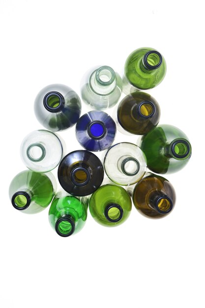 Group of bottle isolated on white Premium Photo