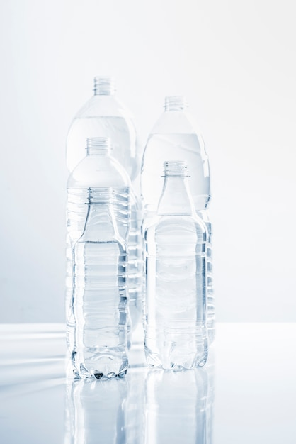 Group of bottles of water Free Photo