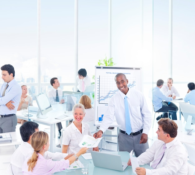 Group of business people meeting in the office Premium Photo