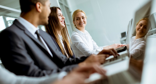 Group Of Business People Sharing Their Ideas In The Office Photo
