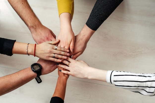 Group of diverse multiethnic people teamwork concept ...