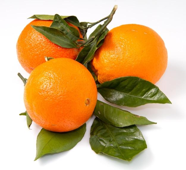 Group of fresh orange fruit Premium Photo