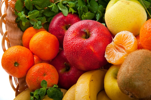 Group of fresh vegetables and fruits Premium Photo