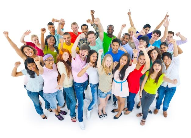Group of happy diverse students Premium Photo