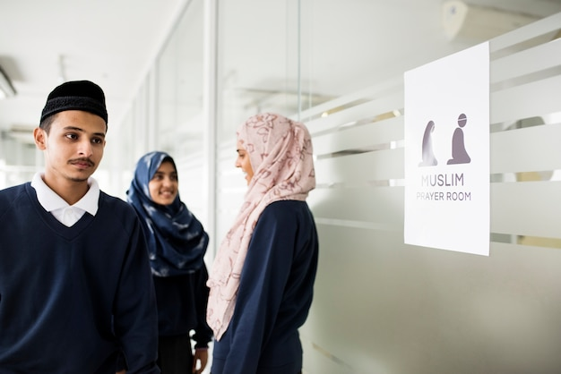 A group of muslim students Premium Photo