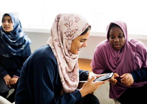 Group of muslim students Premium Photo
