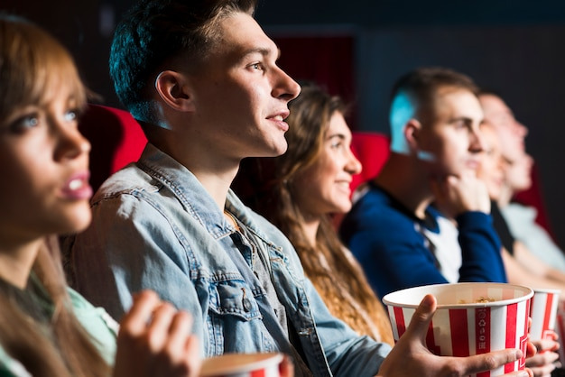 Group of people in cinema Free Photo