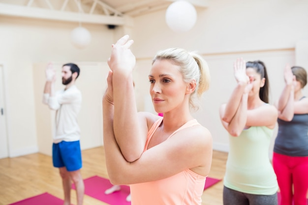 Group Of People Performing Hand Exercise Free Photo