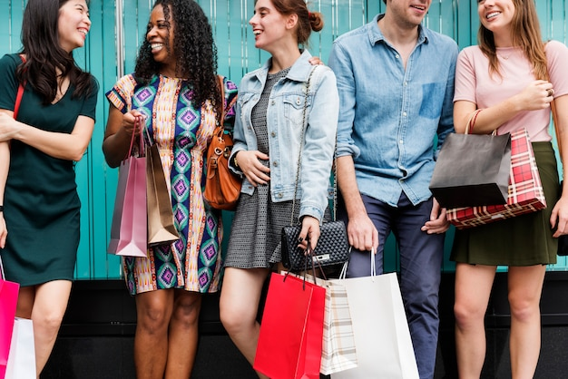 Group of people shopping concept Premium Photo