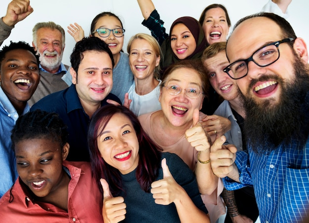 Group of people togetherness concept Premium Photo