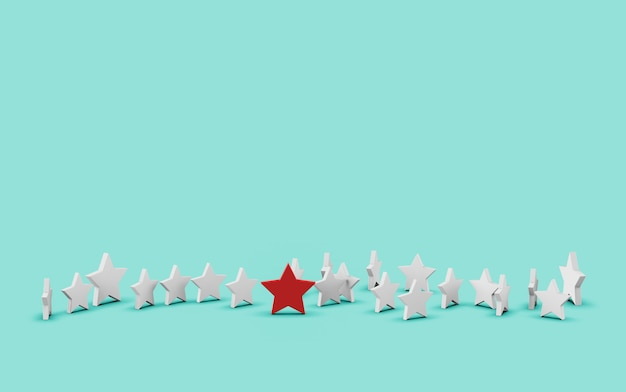 Group of stars isolated on blue Premium Photo