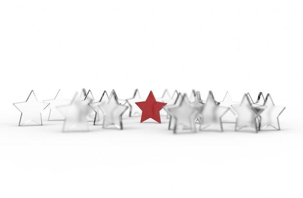 Group of stars isolated on white background Premium Photo