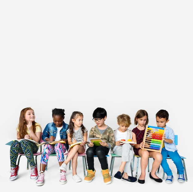 Group of students educated child development Premium Photo