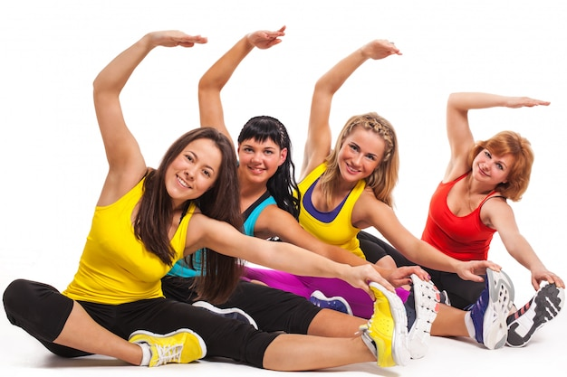 Group of women exercising Free Photo