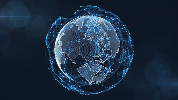 Growing global network and data connections concept Premium Photo