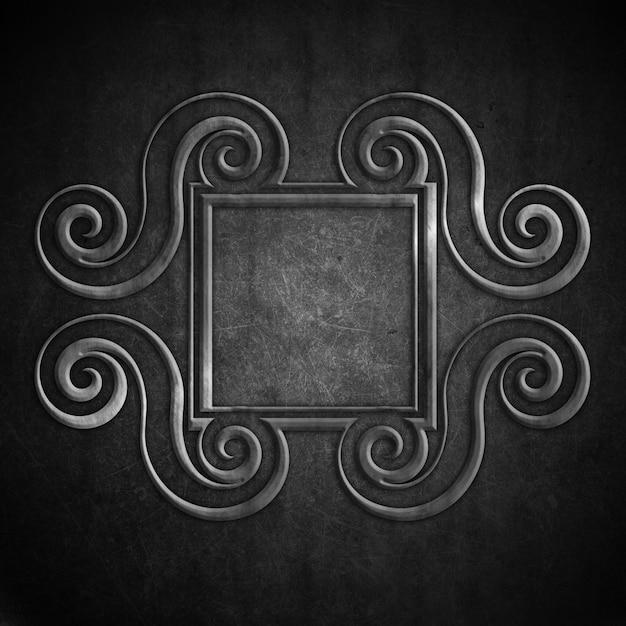 Grunge background with vintage ornamental frame Free Photo