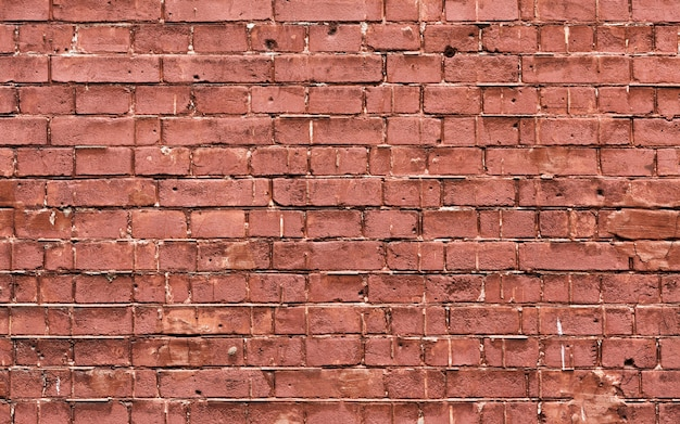 Grunge brown brick wall texture copy space Free Photo