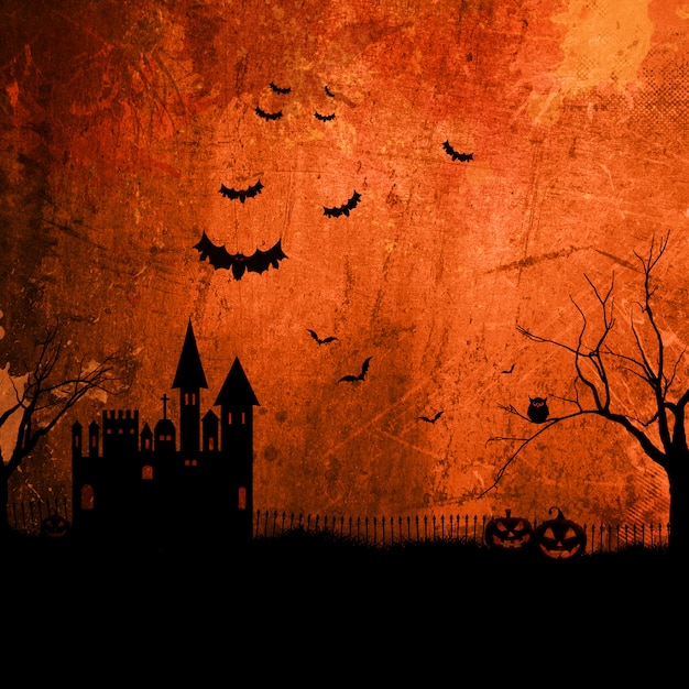 Grunge halloween background Free Photo