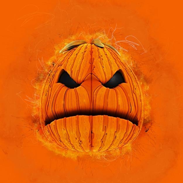 Grunge halloween pumpkin Free Photo