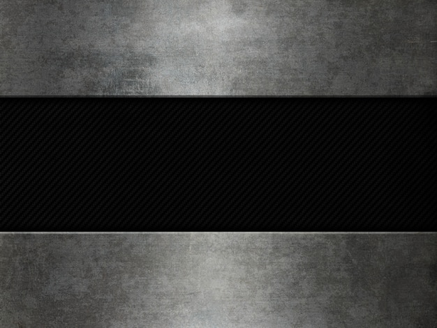 Grunge metal and carbon fibre background Free Photo