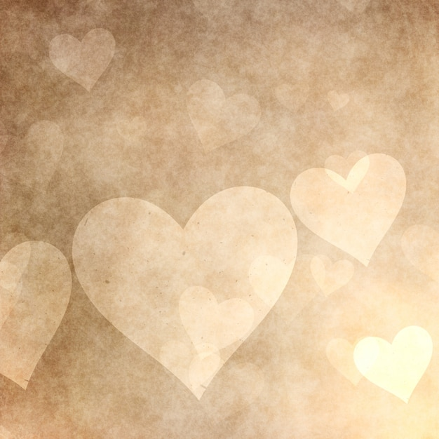 Grunge style hearts background for valentine's day Free Photo