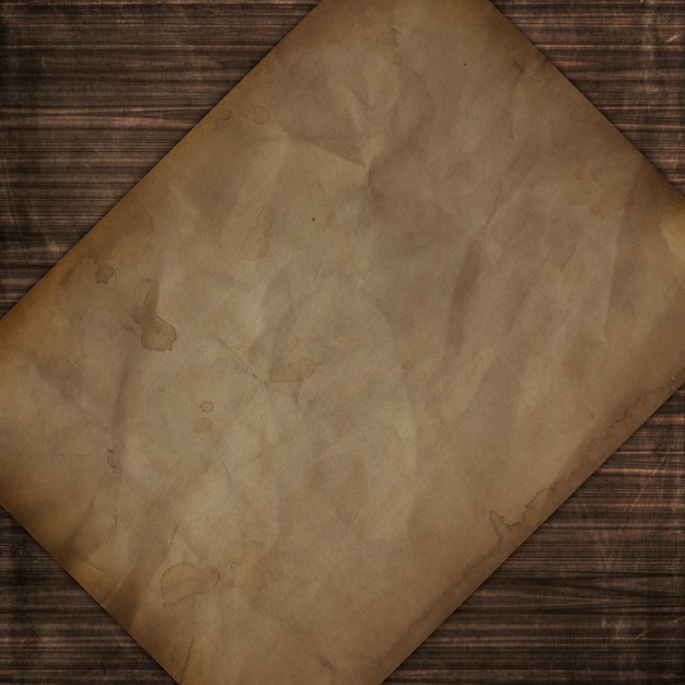 Grunge style wooden texture with old paper design Free Photo