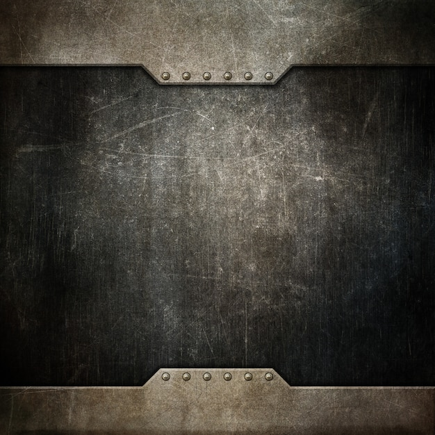 Grunge texture background with metallic design Free Photo