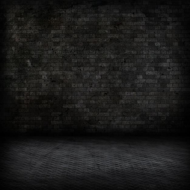 Grunge стиль изображения темного интерьер комнаты Бесплатные Фотографии