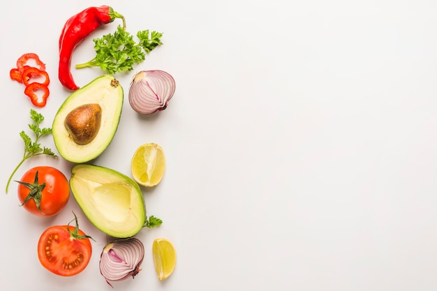 Guacamole ingredients Free Photo