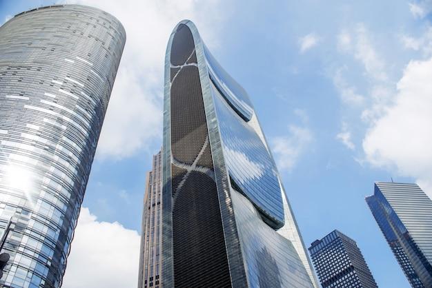 guangzhou china nov 22 2015 modern buildings modern buildin