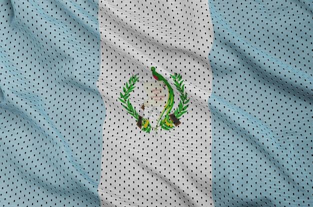 Guatemala flag printed on a polyester nylon mesh Premium Photo