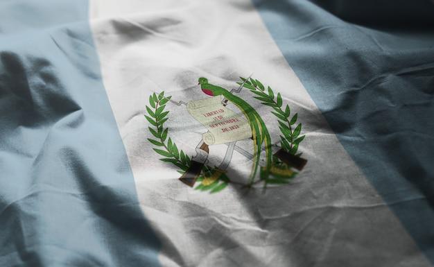 Guatemala flag rumpled close up Premium Photo