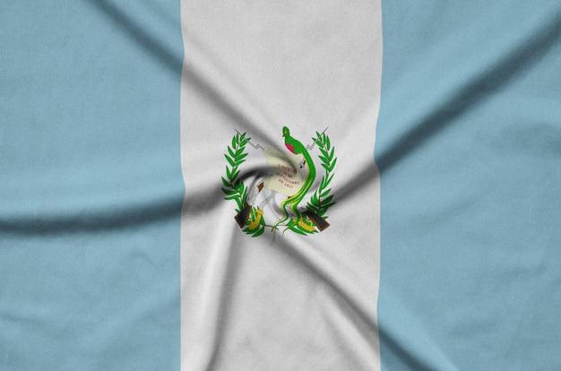Guatemala flag with many folds. Premium Photo