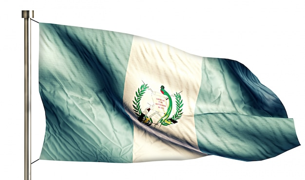 Guatemala national flag isolated 3d white background Free Photo