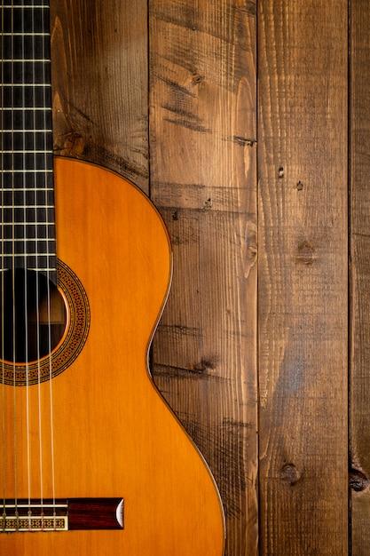 Guitar in wood Premium Photo
