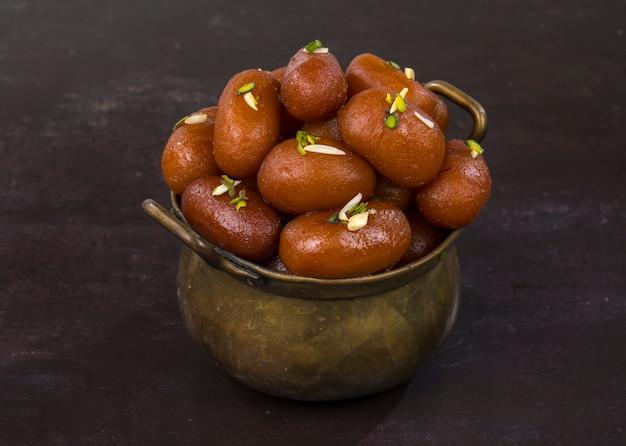 Gulab jamun sweet Premium Photo