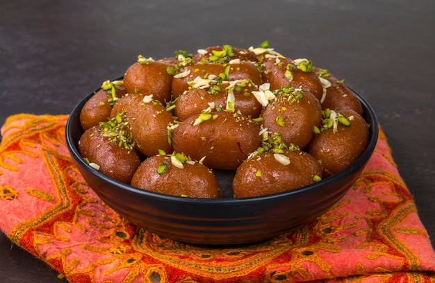 Gulab jamun sweet Premium Photo