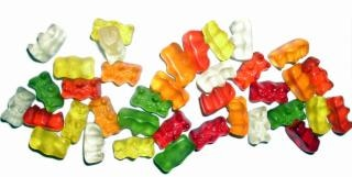 Gummi bears, green