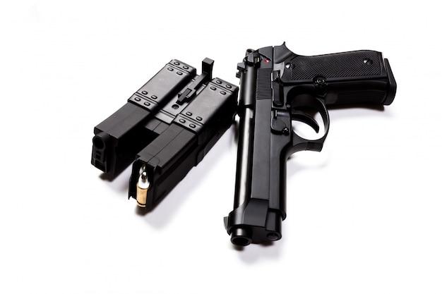 Gun isolated on a white background Premium Photo