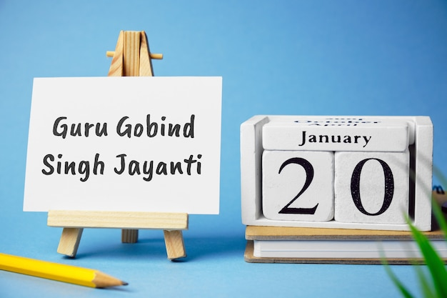 Guru gobind singh jayanti indian holiday. Premium Photo