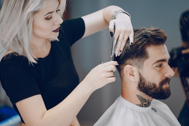 Guy in the barbershop Free Photo
