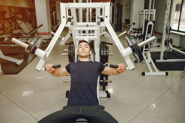 Guy in a gym Free Photo