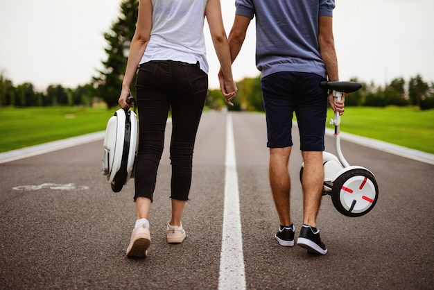 Guys falling in love. young people hold hands. Premium Photo