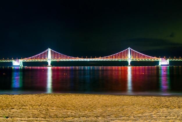 Gwangan bridge with lighting Premium Photo
